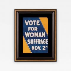 Blue and Yellow Suffrage Movement Poster - 637235