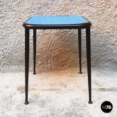 Blue laminate stool 1950s - 2025899
