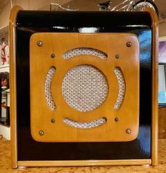 Bluetooth Speaker in Vintage Art Deco Cabinet Restored - 1601155