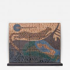 Bo Kristiansen Bo Kristiansen Stoneware Tile Wall Relief Denmark 1980s - 537405