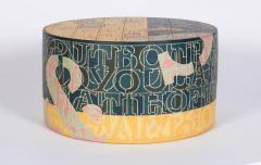 Bo Kristiansen Sculptural Stoneware Object with Incised Letters by Bo Kristiansen Denmark - 296914