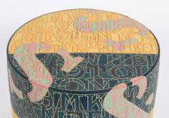 Bo Kristiansen Sculptural Stoneware Object with Incised Letters by Bo Kristiansen Denmark - 296916