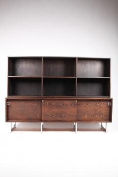 Bodil Kjaer Bodil Kj r Freestanding Sideboard with Bookshelf in Wenge Denmark 1960s  - 1585619