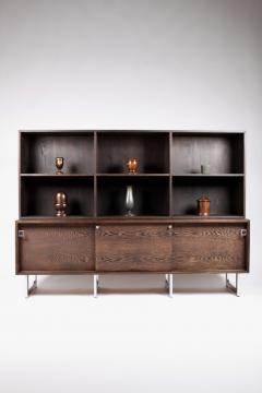 Bodil Kjaer Bodil Kj r Freestanding Sideboard with Bookshelf in Wenge Denmark 1960s  - 1585620