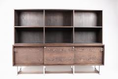 Bodil Kjaer Bodil Kj r Freestanding Sideboard with Bookshelf in Wenge Denmark 1960s  - 1585622