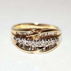 Bold Elegant Modern Natural Diamond Cocktail Ring - 1674613