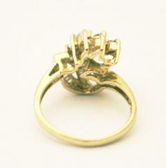Bold Elegant Modern Natural Marquise Diamond Cocktail Ring - 1674468