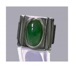 Bold Striking Art Deco Architectural Design Ring French Import Mark C 1920 - 474052