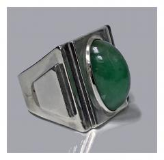 Bold Striking Art Deco Architectural Design Ring French Import Mark C 1920 - 474053