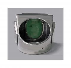 Bold Striking Art Deco Architectural Design Ring French Import Mark C 1920 - 474055