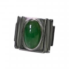 Bold Striking Art Deco Architectural Design Ring French Import Mark C 1920 - 475777