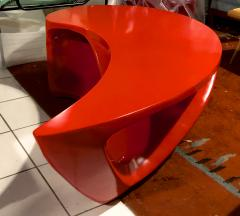 Boomerang shaped red abstract coffee table - 1007599