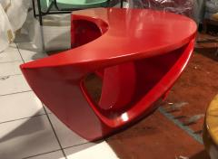 Boomerang shaped red abstract coffee table - 1007603