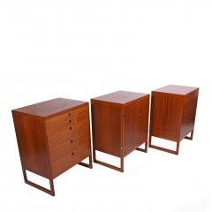 Borge Mogensen Three Teak Cabinets by B rge Mogensen for P Lauritsen Son BM 59 - 1144897