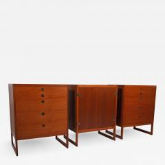 Borge Mogensen Three Teak Cabinets by B rge Mogensen for P Lauritsen Son BM 59 - 1145395