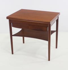 Borge Mogensen Unique Scandinavian Modern Expandable Teak Side Table by Borge Mogensen - 983922