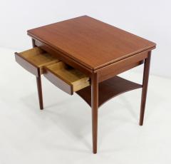 Borge Mogensen Unique Scandinavian Modern Expandable Teak Side Table by Borge Mogensen - 983924