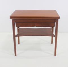 Borge Mogensen Unique Scandinavian Modern Expandable Teak Side Table by Borge Mogensen - 983925