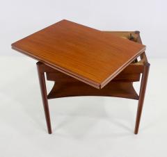 Borge Mogensen Unique Scandinavian Modern Expandable Teak Side Table by Borge Mogensen - 983926