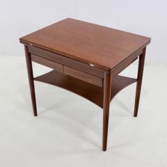 Borge Mogensen Unique Scandinavian Modern Expandable Teak Side Table by Borge Mogensen - 983928