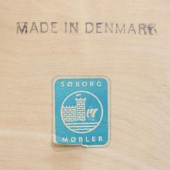 Borge Mogensen Unique Scandinavian Modern Expandable Teak Side Table by Borge Mogensen - 983929
