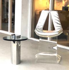Boris Tabacoff Boris Tabacoff Pair of Dumas Chairs with Original Silver Upholstery 1970 - 1421346