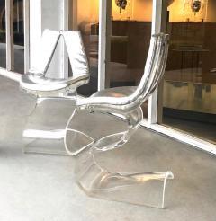 Boris Tabacoff Boris Tabacoff Pair of Dumas Chairs with Original Silver Upholstery 1970 - 1421347