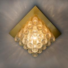 Boris Tabacoff One of Six Flush Mount Chandeliers by Boris Tabacoff 1970s - 972172