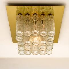 Boris Tabacoff One of Six Flush Mount Chandeliers by Boris Tabacoff 1970s - 972173