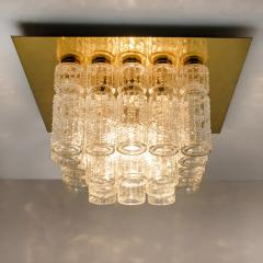 Boris Tabacoff One of Six Flush Mount Chandeliers by Boris Tabacoff 1970s - 972181
