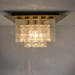 Boris Tabacoff One of Six Flush Mount Chandeliers by Boris Tabacoff 1970s - 972184