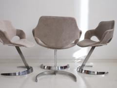 Boris Tabacoff Set of Four Chromed Steel Dining Chairs by Boris Tabacoff - 1414186