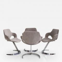 Boris Tabacoff Set of Four Chromed Steel Dining Chairs by Boris Tabacoff - 1416750