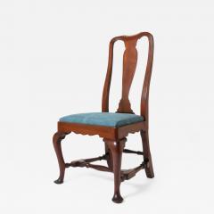 Boston Queen Ann mahogany slip seat side chair - 1932875