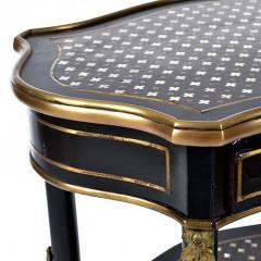 Boulle Style Three Tier Ebony and Bronze Ormolu Tables - 169145