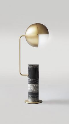 Brass Another Table Lamp Square in Circle - 1649312