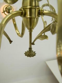 Brass Art Nouveau Chandelier 1900s - 1680858
