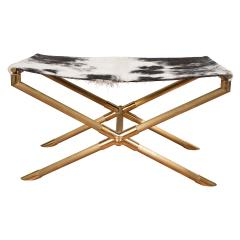 Brass Campaign Style Bench - 251872