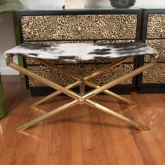 Brass Campaign Style Bench - 251873