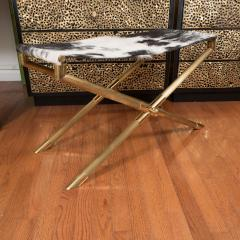 Brass Campaign Style Bench - 251874