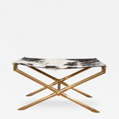 Brass Campaign Style Bench - 252624