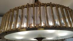 Brass Chandelier with Crystal Inserts - 1114538
