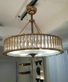 Brass Chandelier with Crystal Inserts - 1114541
