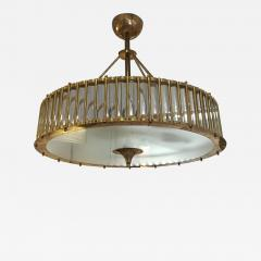 Brass Chandelier with Crystal Inserts - 1114571