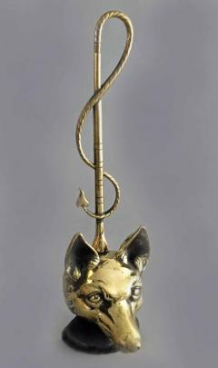Brass Doorstop in Form of a Fox - 866768