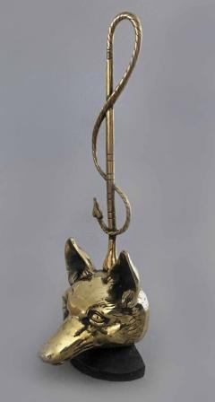 Brass Doorstop in Form of a Fox - 866771