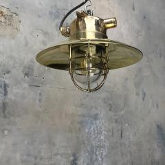 Brass Explosion Proof Cage Ceiling Pendant - 1007840