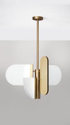 Brass Geometric Task Pendant Lamp Square in Circle - 1649290