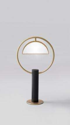 Brass Half in Circle Table Lamp Square in Circle - 1653439