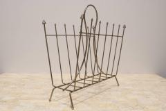Brass Mid Century French Magazine Rack - 366975